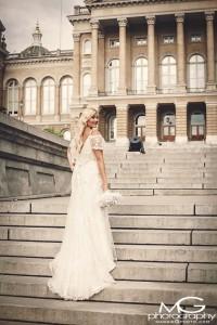 Beautiful Bride Danielle at The Rollins Mansion, Des Moines