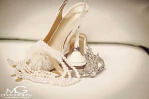 Gorgeous wedding accessories used in STB Bride Danielle's Great Gatsby themed wedding